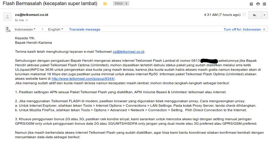 Telkom Simpati flash (loop) 3GB unlimited kok lambat :P